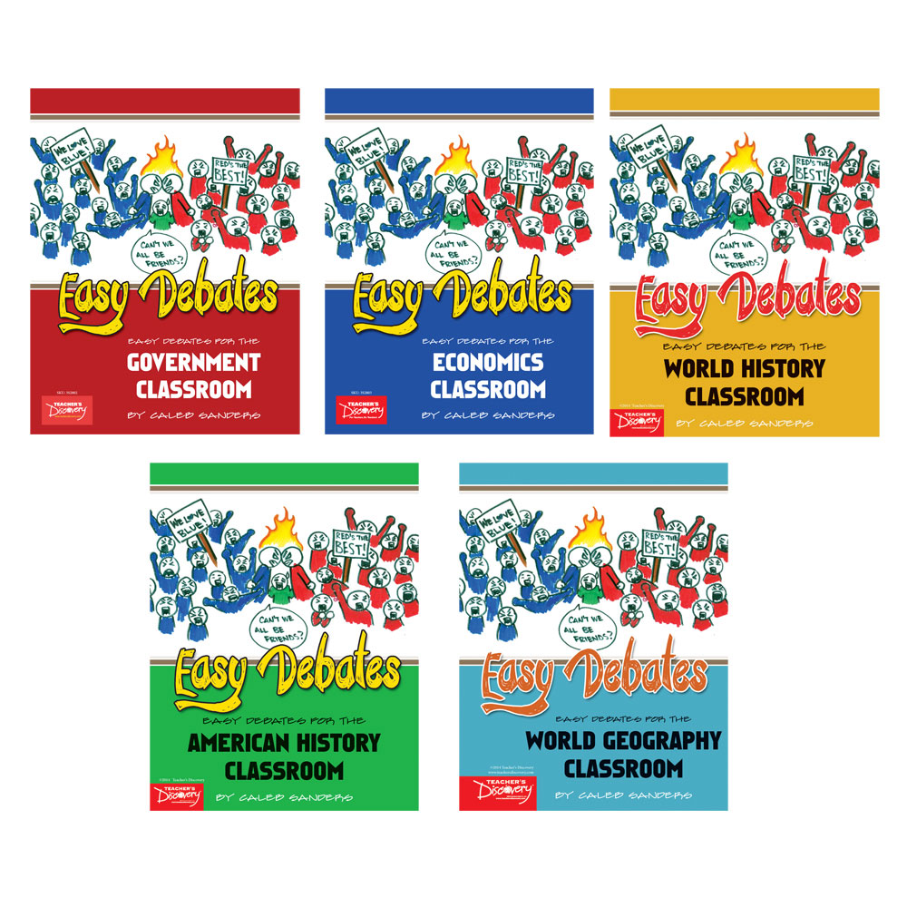 Easy Debates for the Social Studies Classroom Activity Book Set of 5 Books
