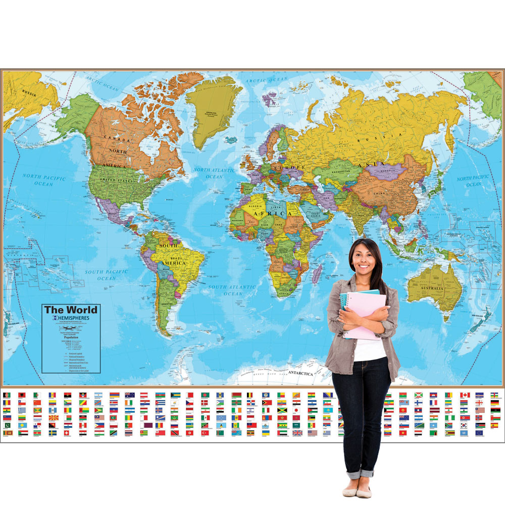 Markable World Wall Map
