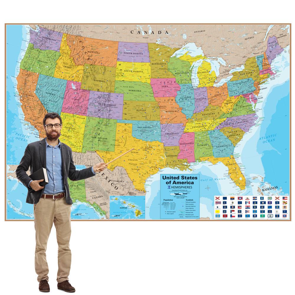 Markable U.S. Wall Map