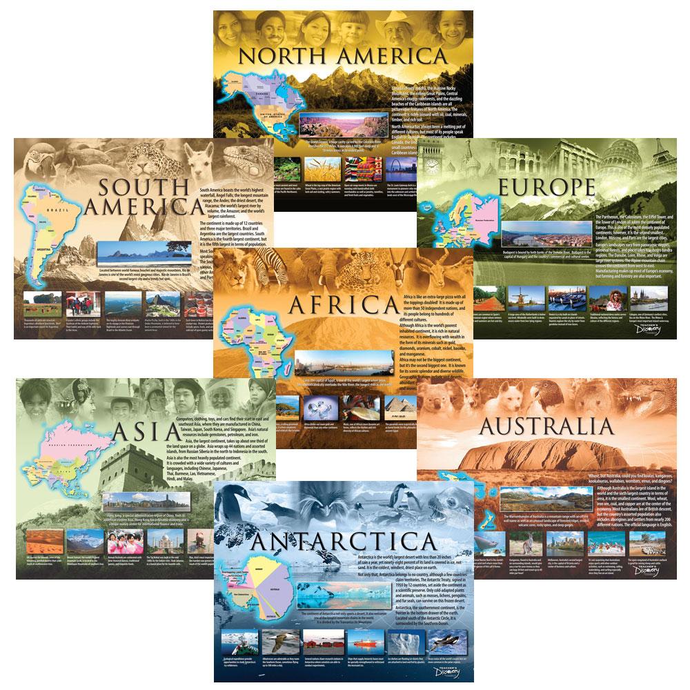 Seven Continents Poster Set