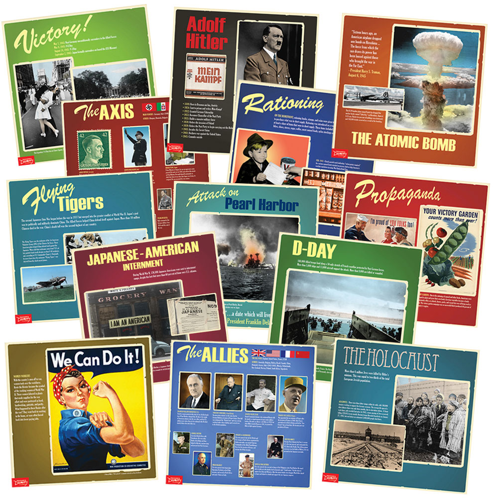 World War II Mini-Posters Set of 13