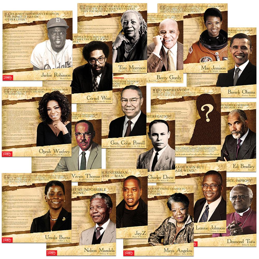 Black History Mini-Poster Set of 18