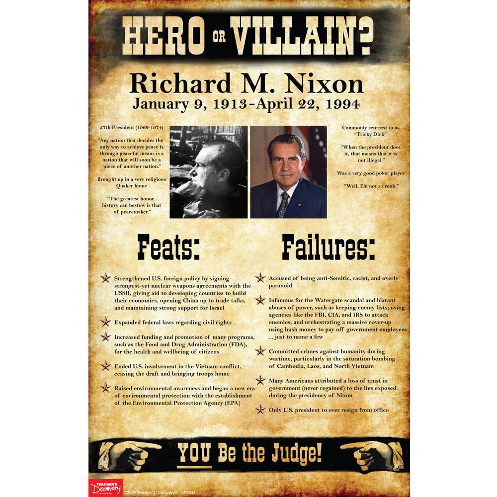 Richard M. Nixon: Hero or Villain? Mini-Poster