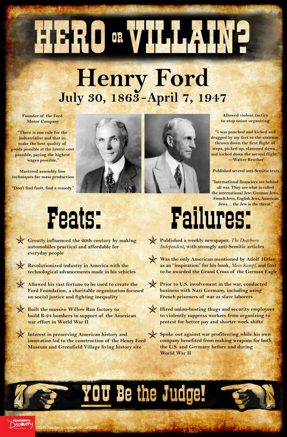 Henry Ford: Hero or Villain? Mini-Poster