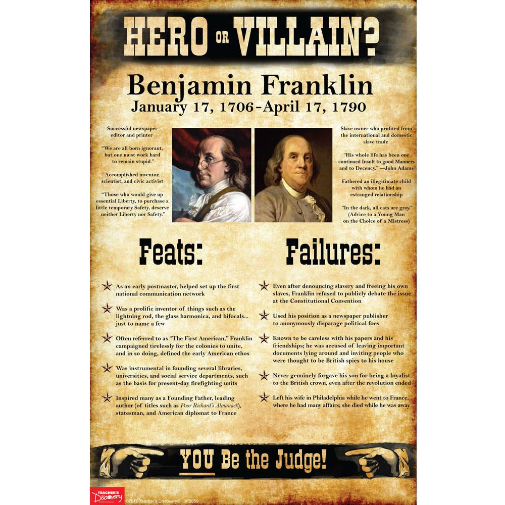 Benjamin Franklin:  Hero or Villain? Mini-Poster