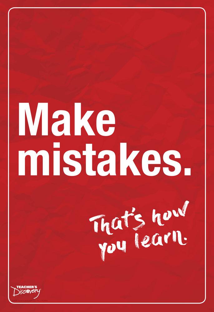 Make Mistakes English Mini-Poster