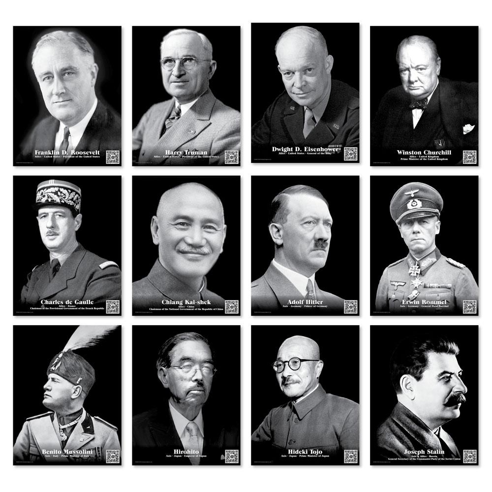 Faces of World War II Enhanced® Mini-Poster Set