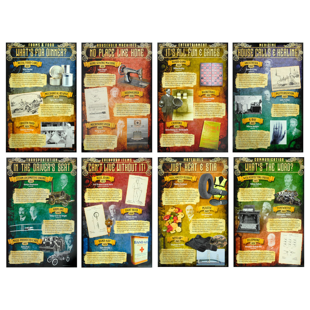 Great Inventions: 1810-1965 Poster Set