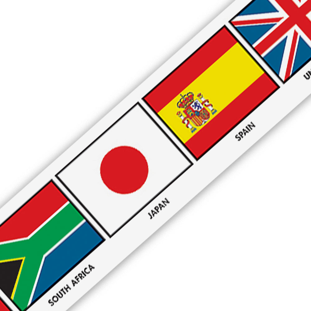 Flags of Nations Border - Set of 12 Strips