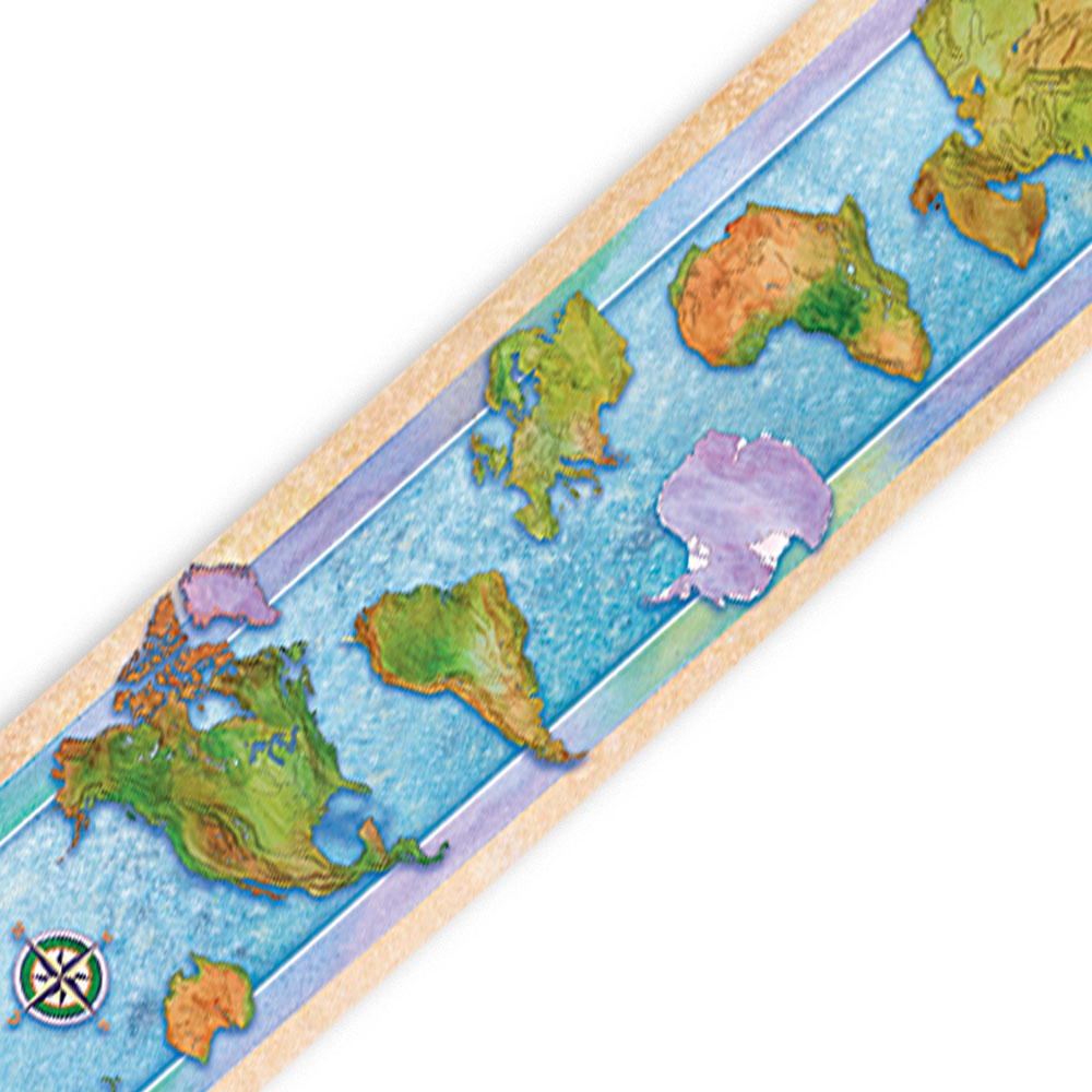 World Continents Border - Set of 12 Strips