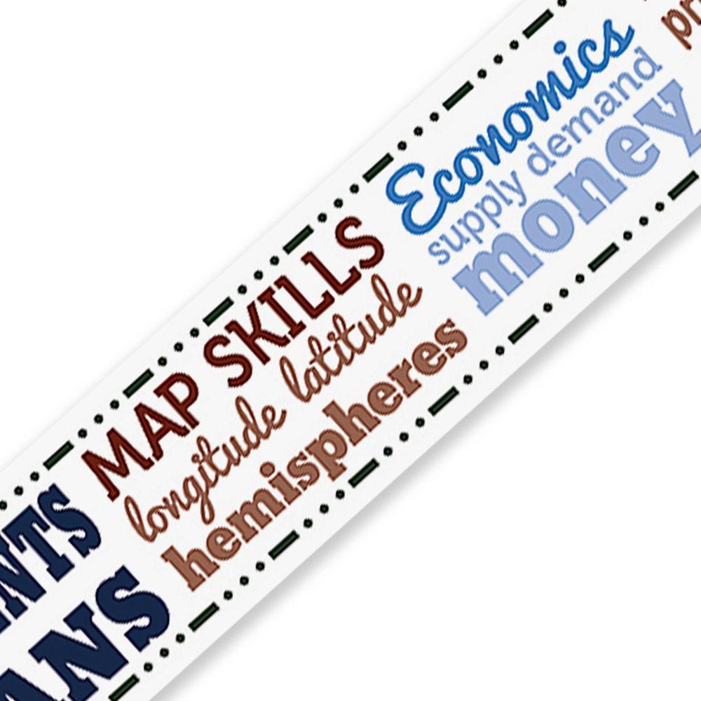 Social Studies Chatter Border - Set of 12 Strips