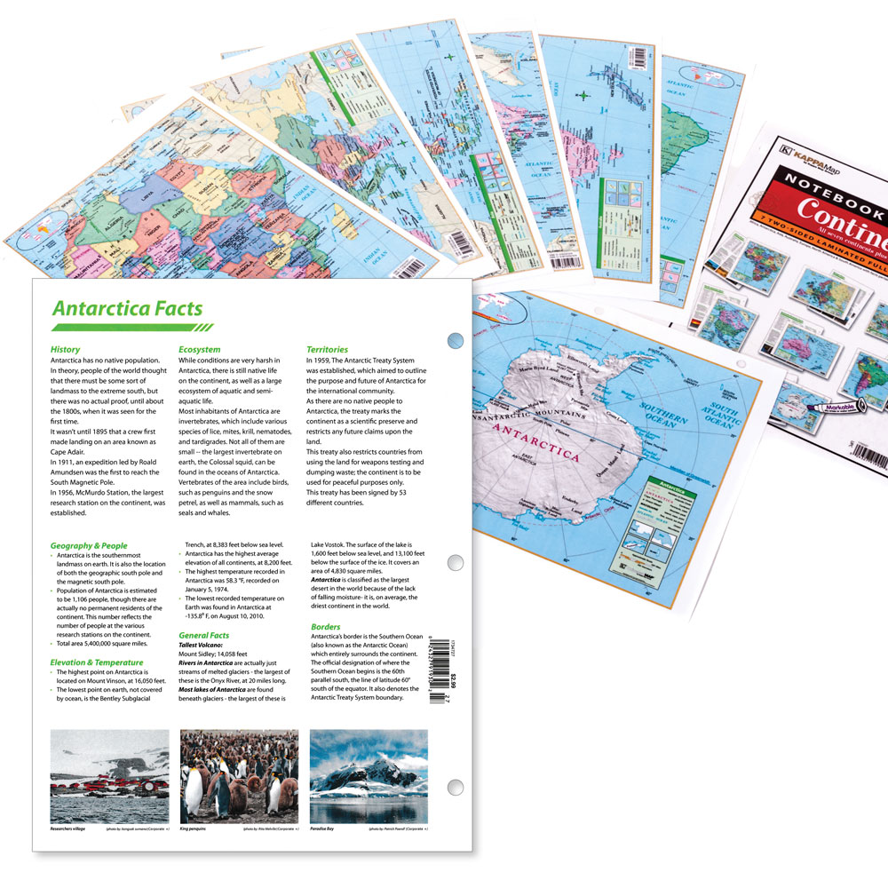 Notebook Map Set: Continents