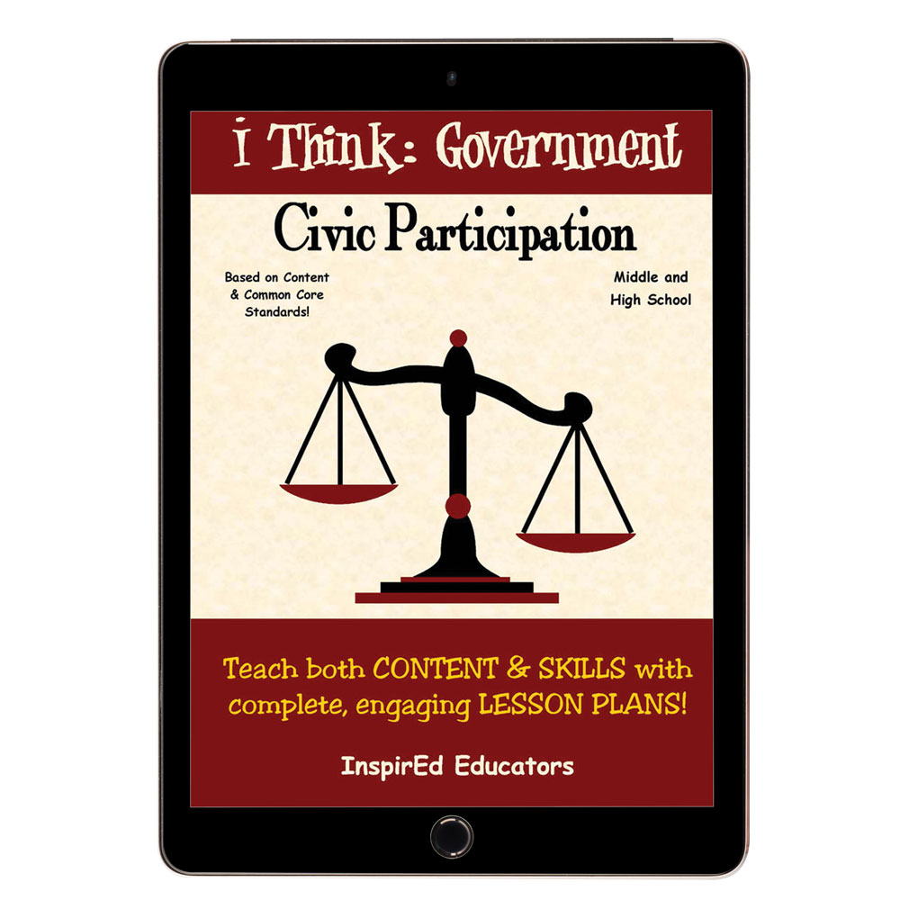 i Think: Government, Civic Participation Activity Book