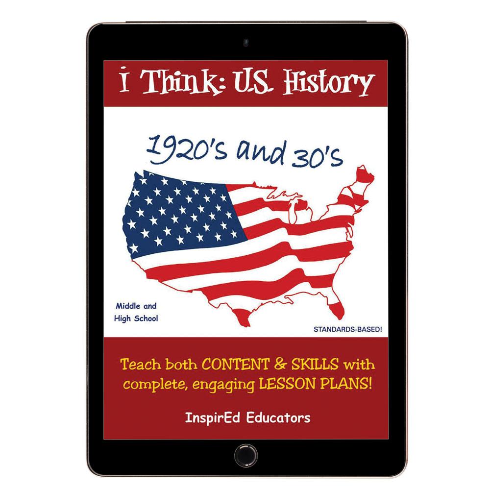 i Think: U.S. History, 1920s and 30s Activity Book - i Think: U.S. History, 1920s and 30s Activity Print Book