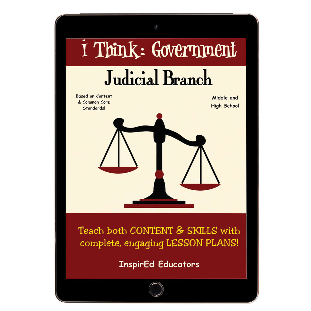i Think: Government, The Judicial Branch Activity Book