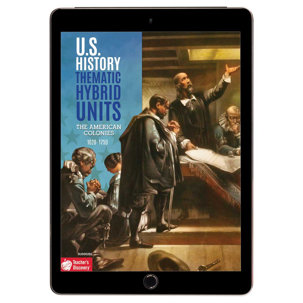 U.S. History Thematic Hybrid Unit: The American Colonies Download - Hybrid Learning Resource