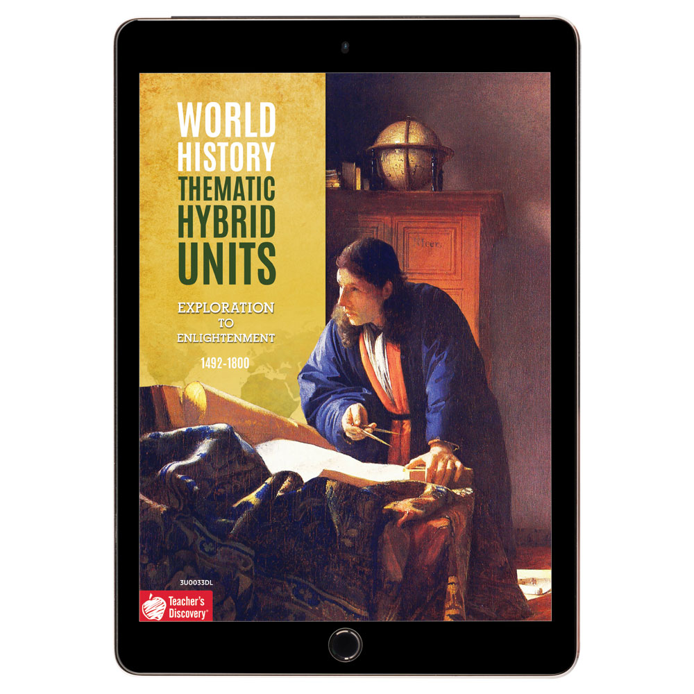 World History Thematic Hybrid Unit: Exploration to Enlightenment Download - Hybrid Learning Resource