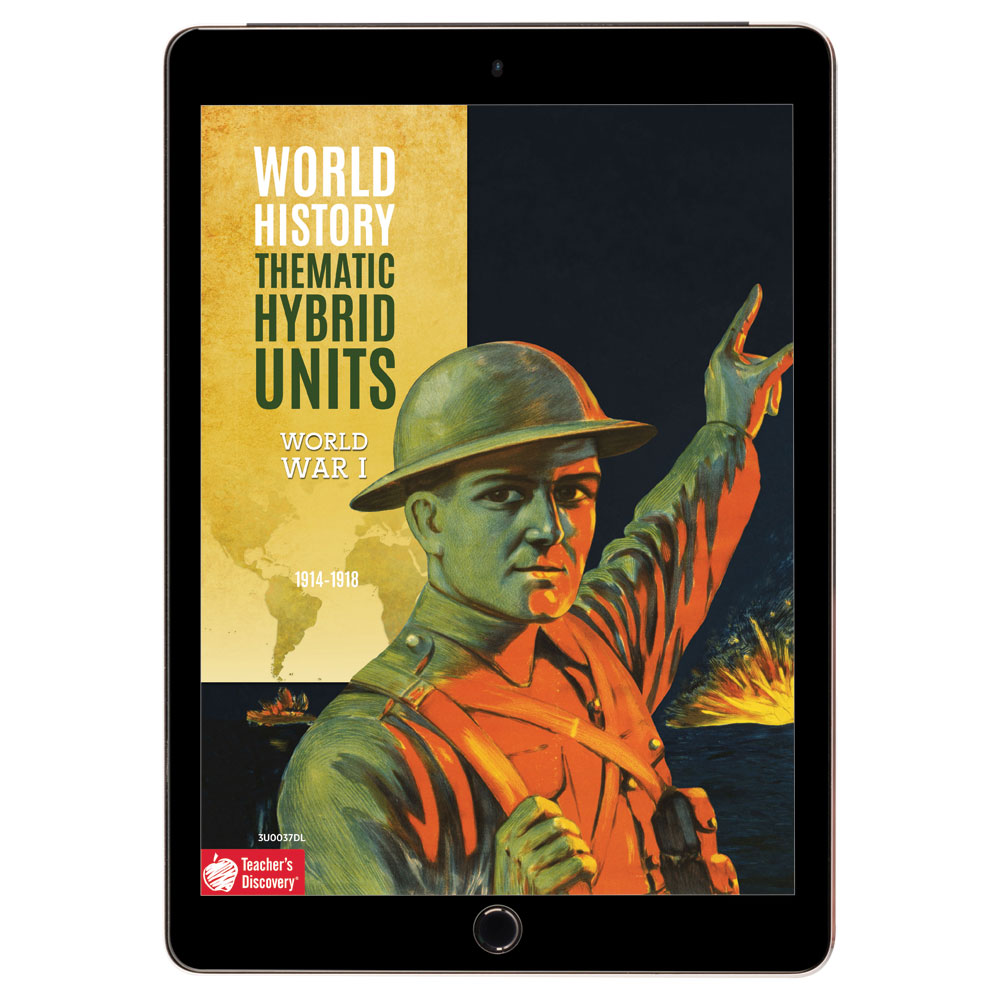 World History Thematic Hybrid Unit: World War I Download - Hybrid Learning Resource