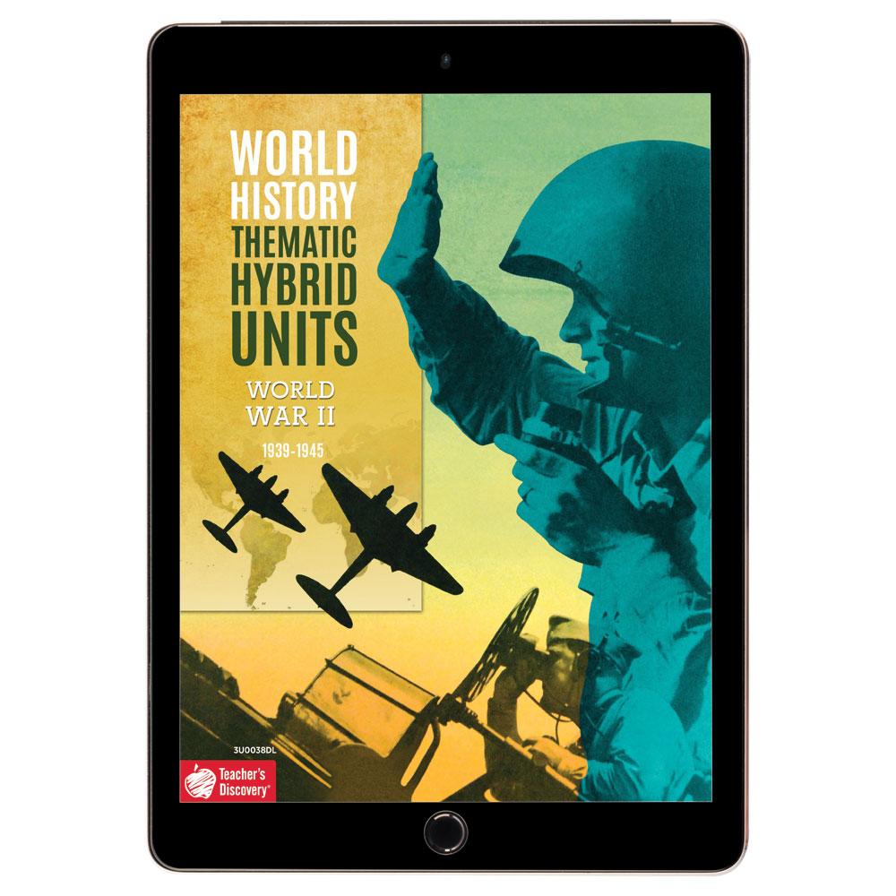 World History Thematic Hybrid Unit: World War II Download - Hybrid Learning Resource