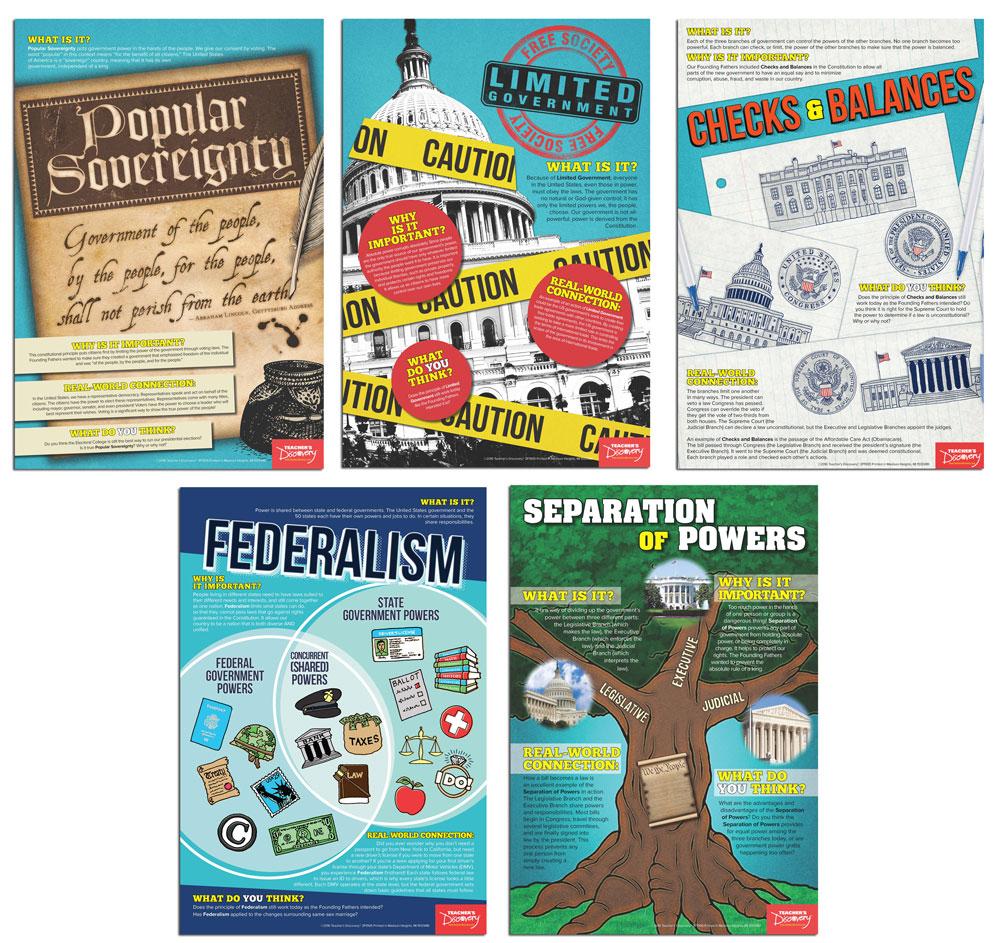 Constitutional Core Principles Mini-Poster Set