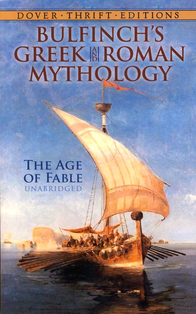 Bulfinch's Greek and Roman Mythology Paperback Book (1190L)