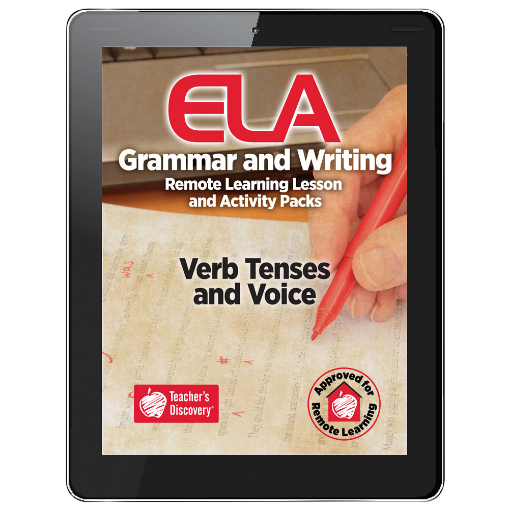 Verb Tenses and Voice Remote Learning Lesson and Activity Pack Download