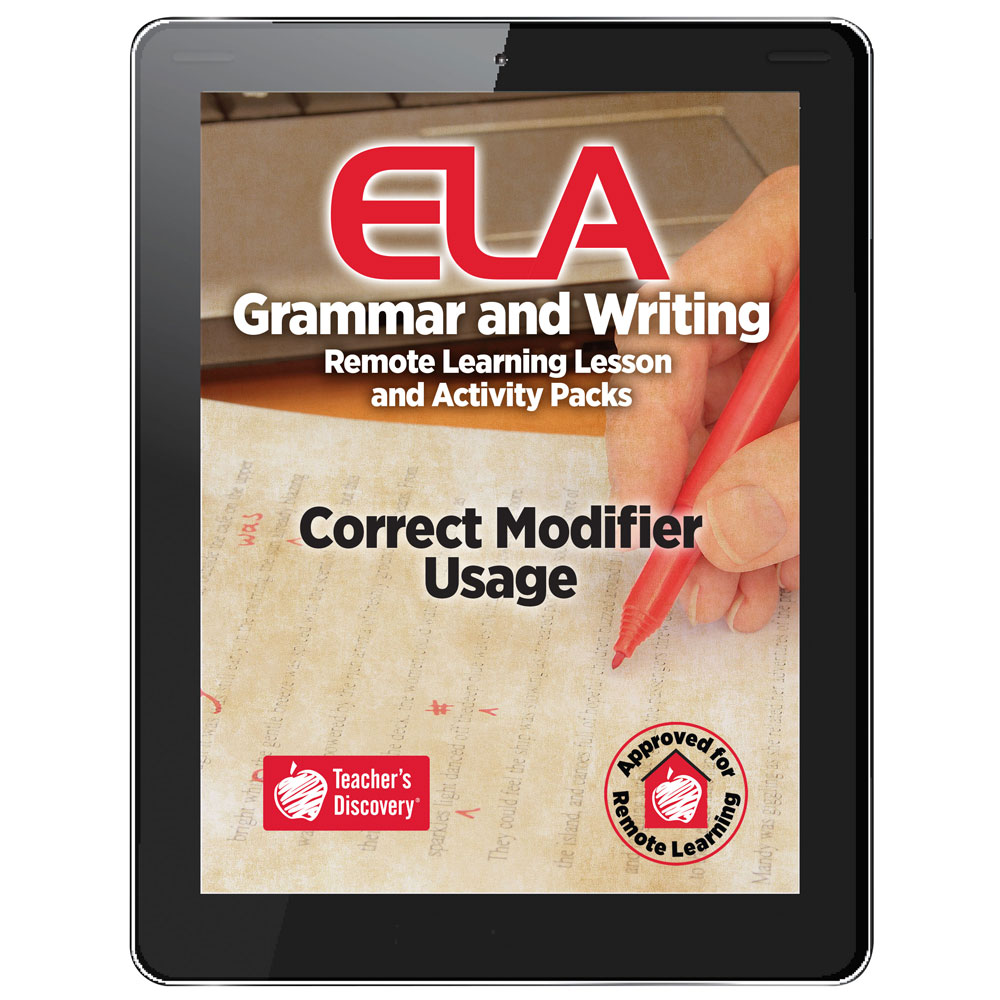 Correct Modifier Usage Remote Learning Lesson and Activity Pack Download