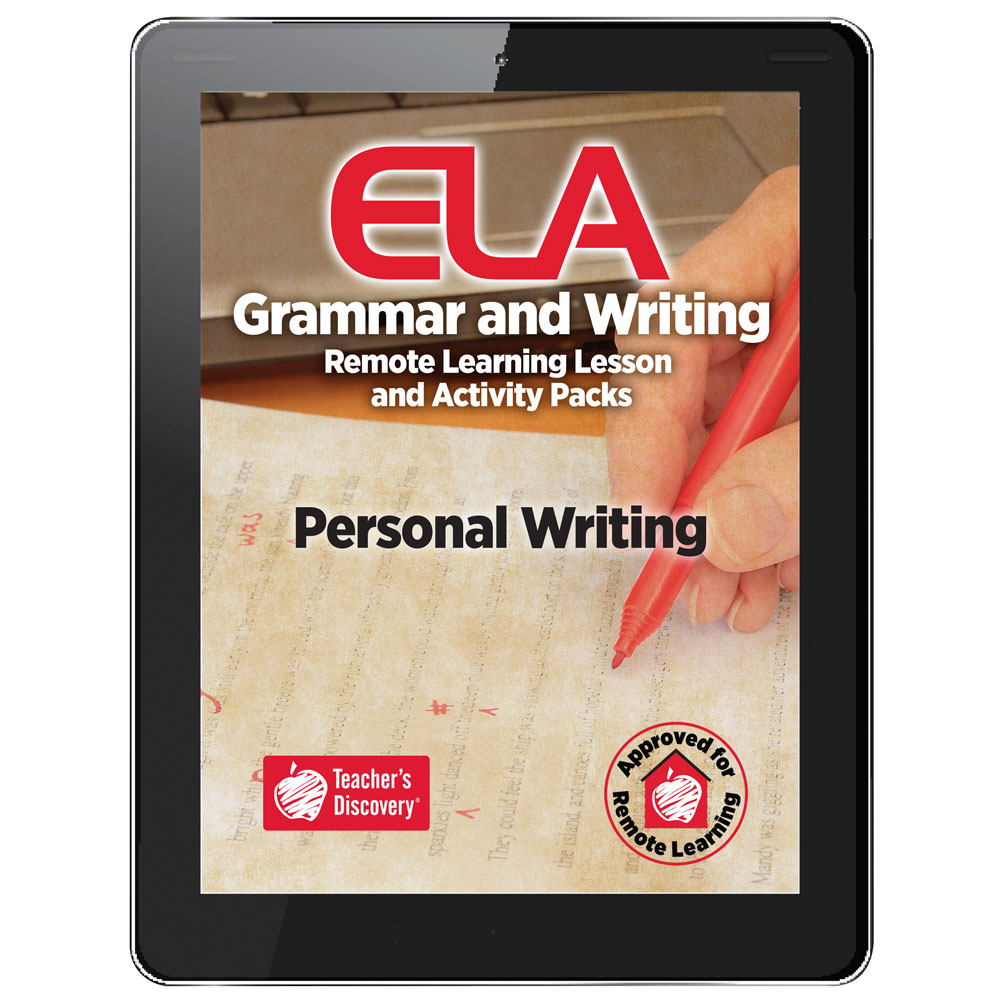 Personal Writing Remote Learning Lesson and Activity Pack Download