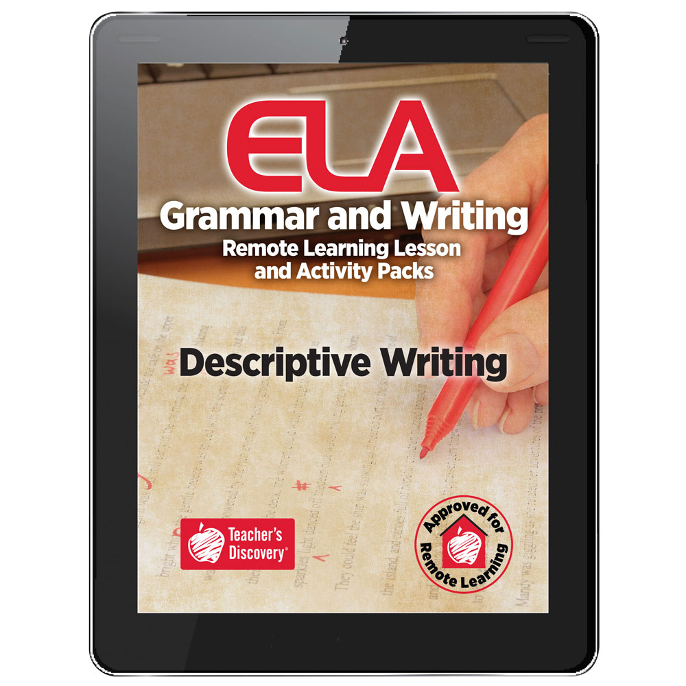 Descriptive Writing Remote Learning Lesson and Activity Pack Download