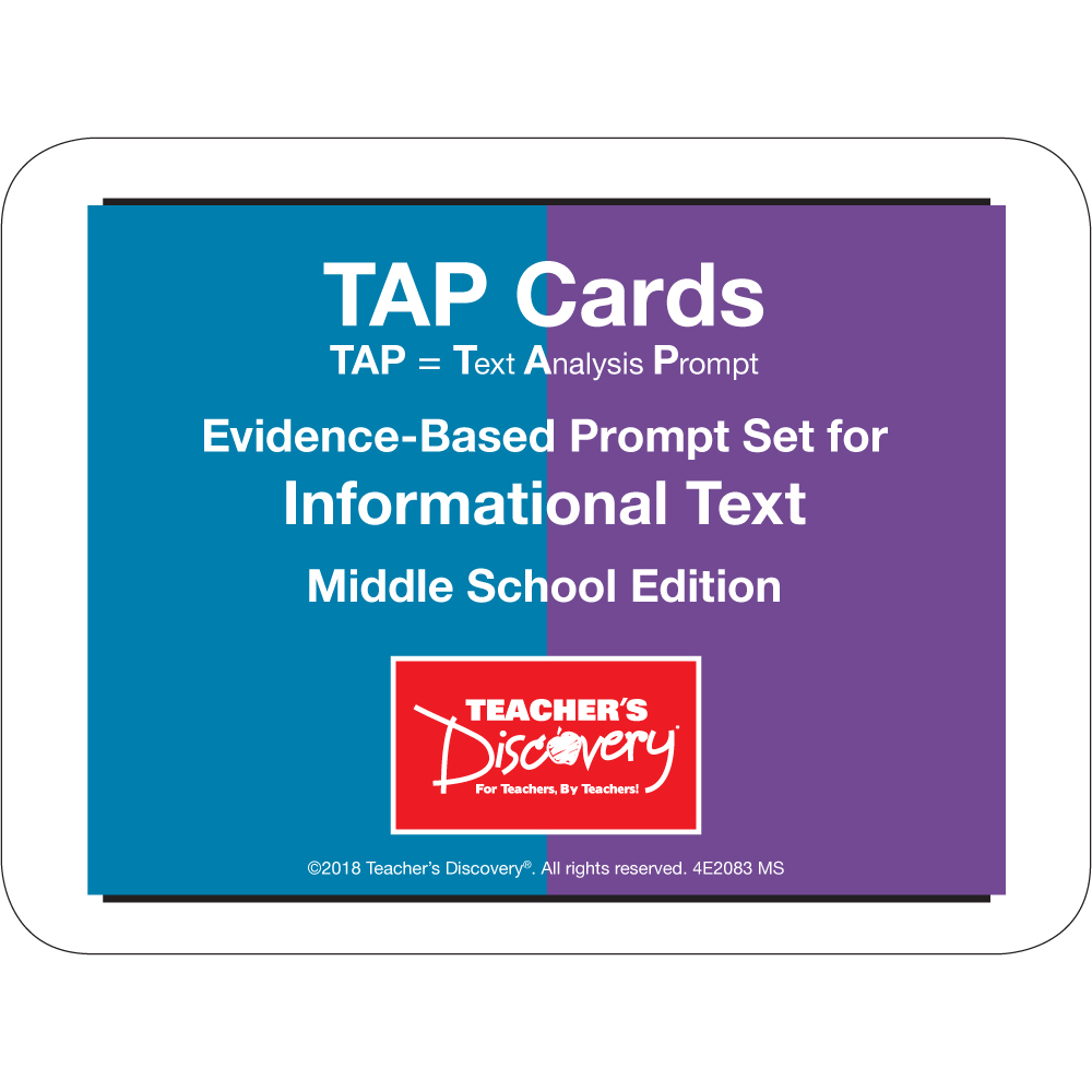 TAP Cards: Informational Text Card Set for Middle School