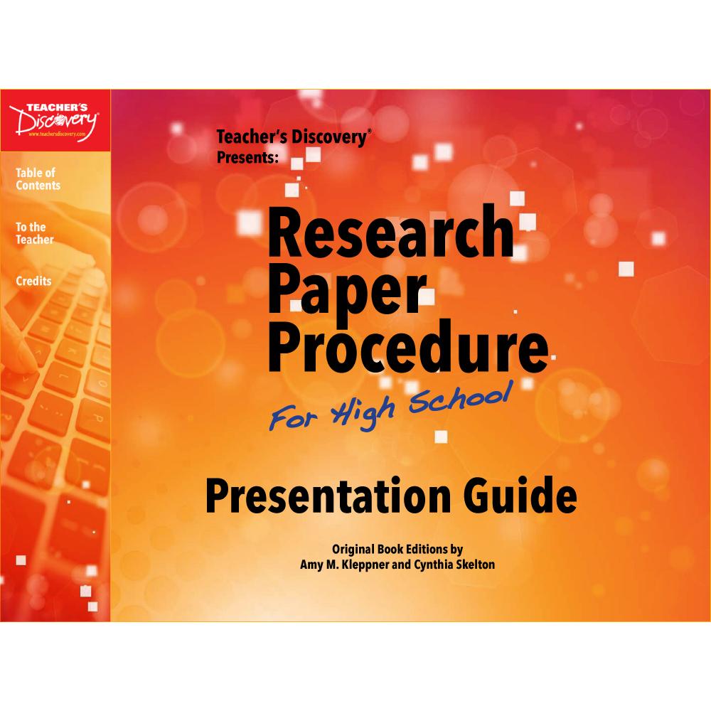 Research Paper Procedure Presentation Guide Download