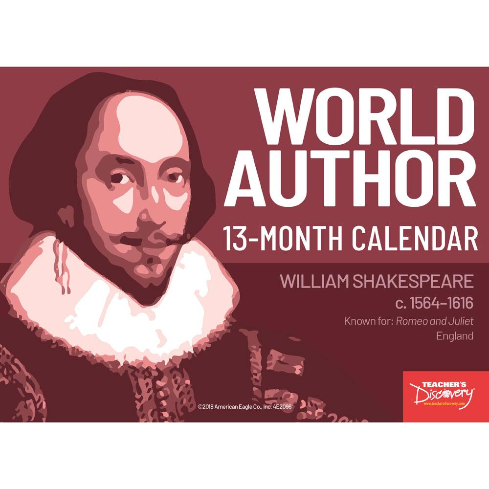 World Author 13-Month Calendar