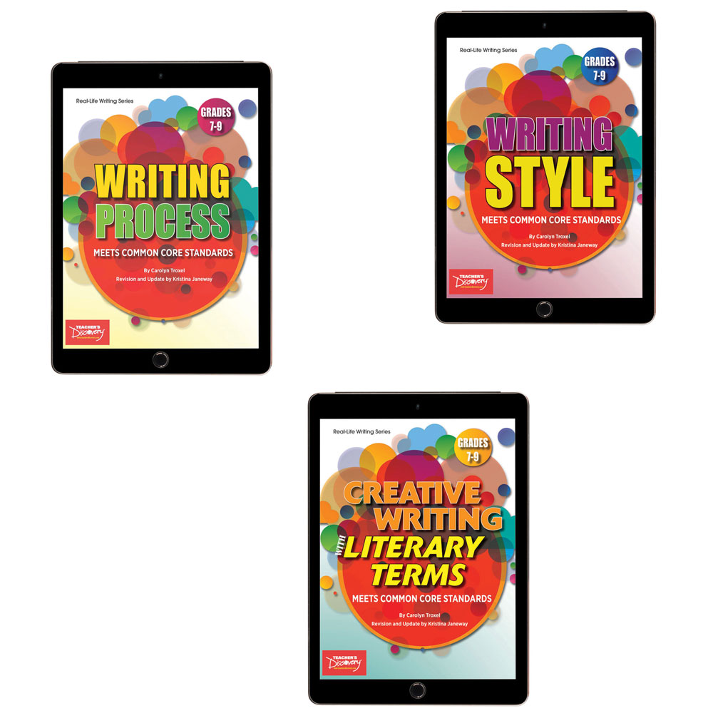 Creative Writing with Literary Terms, Writing Process, and Writing Style Activity Books Set