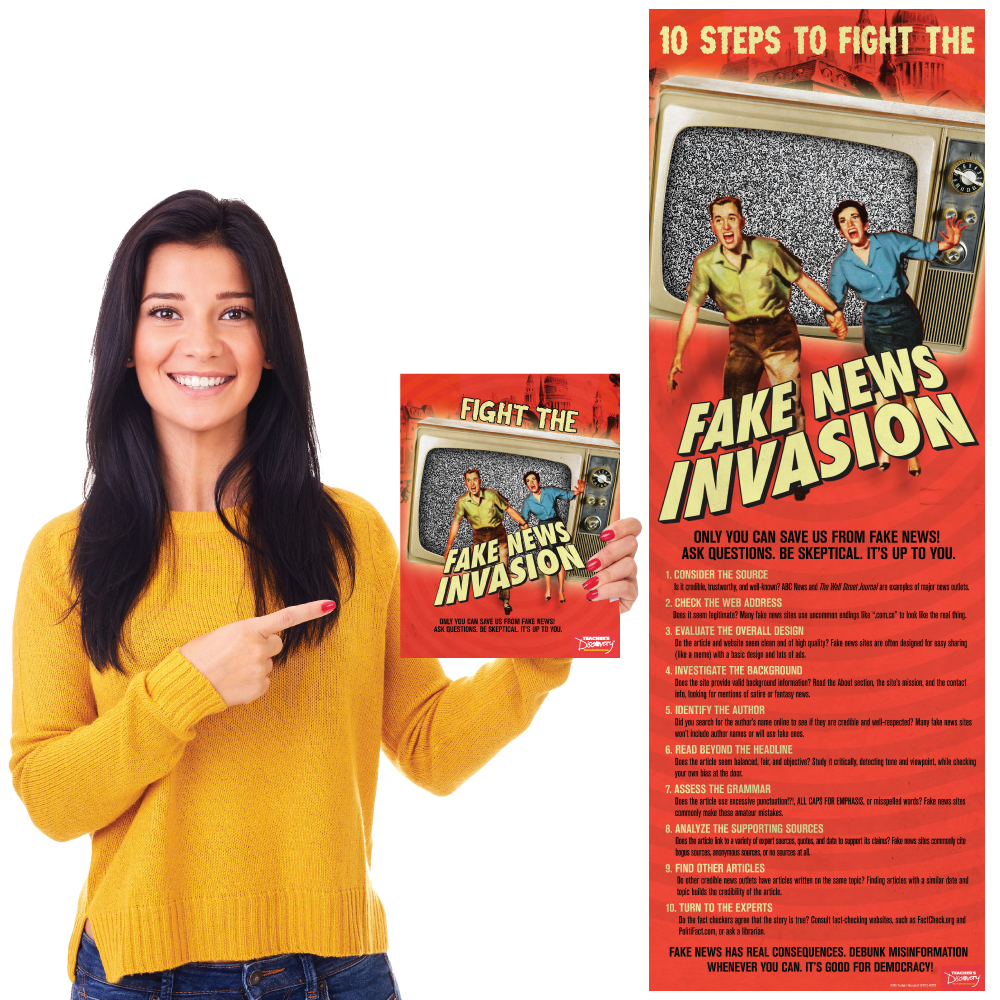 Fight the Fake News Invasion Print Book and Skinny Poster Set