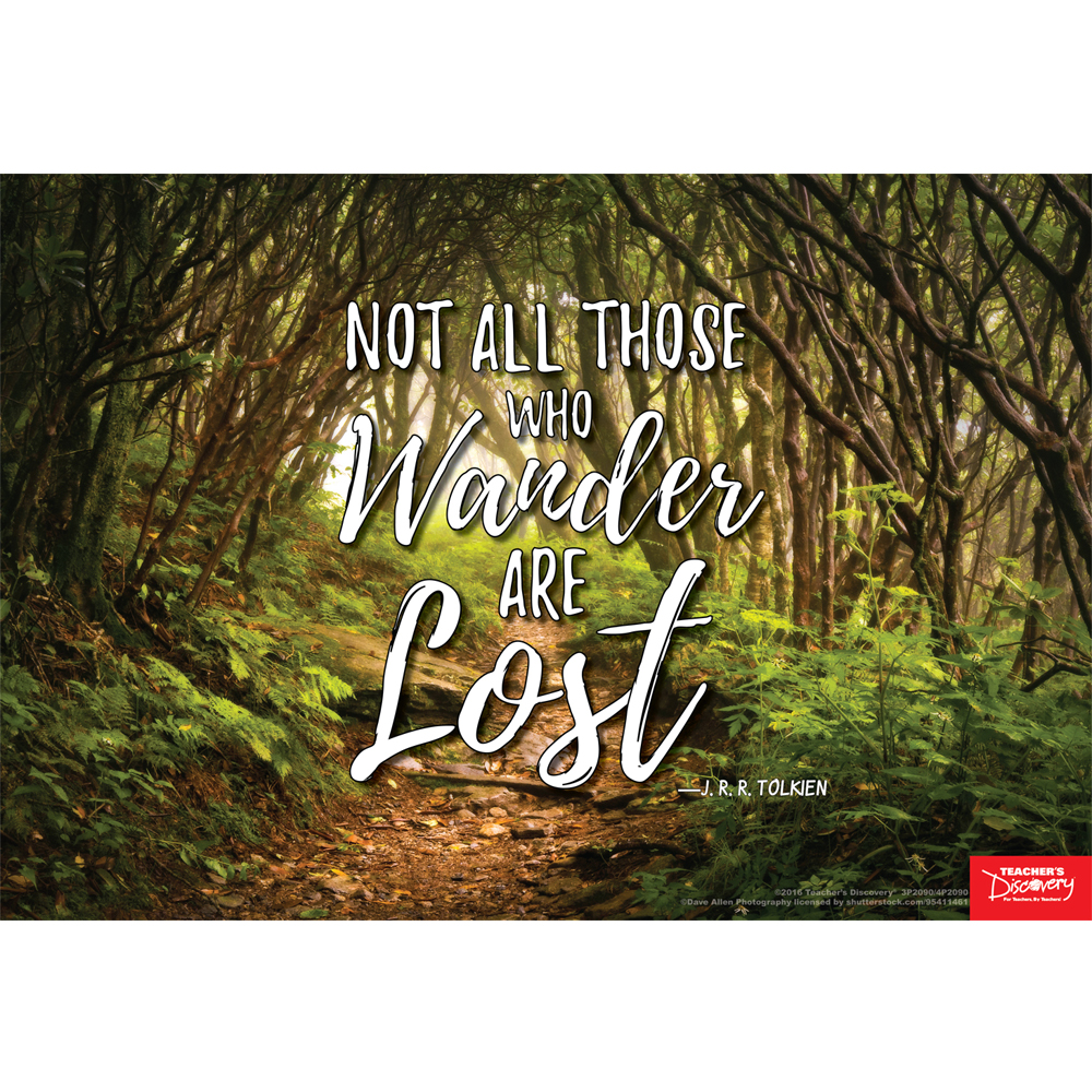 Not All Those Who Wander Are Lost Mini-Poster