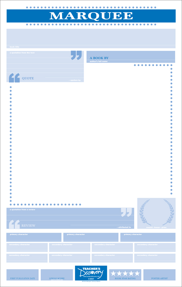 Blank Marquee Poster Activity Set