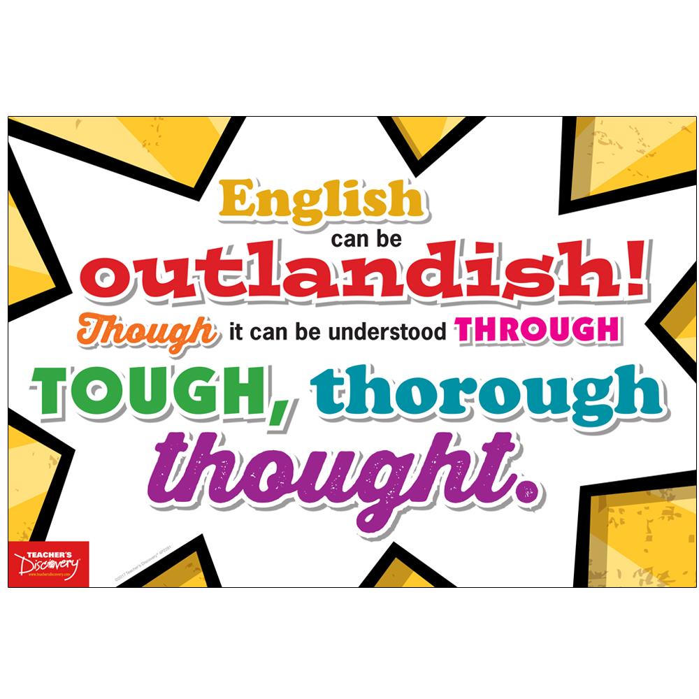 English is Outlandish! Mini-Poster