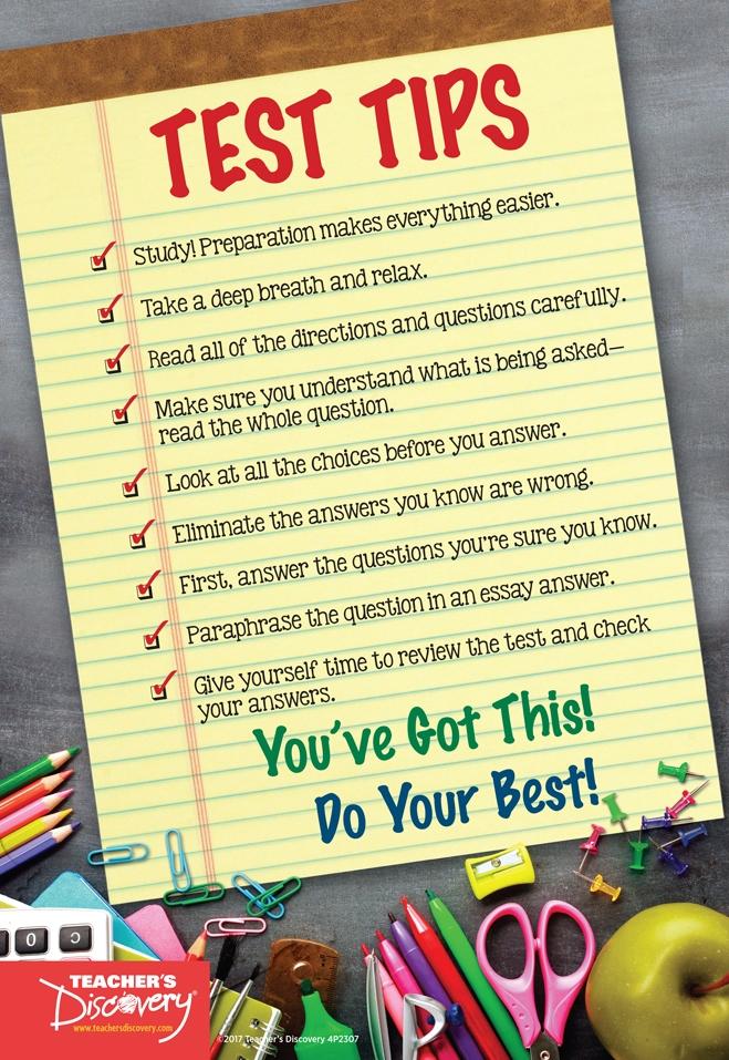 Test Tips Mini-Poster