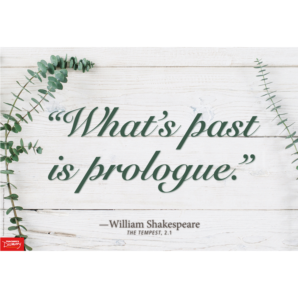 What's Past is Prologue Mini-Poster