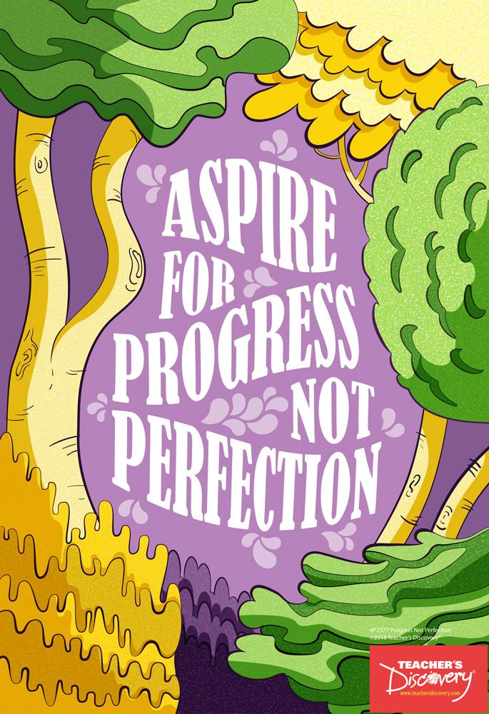 Progress Not Perfection Mini-Poster