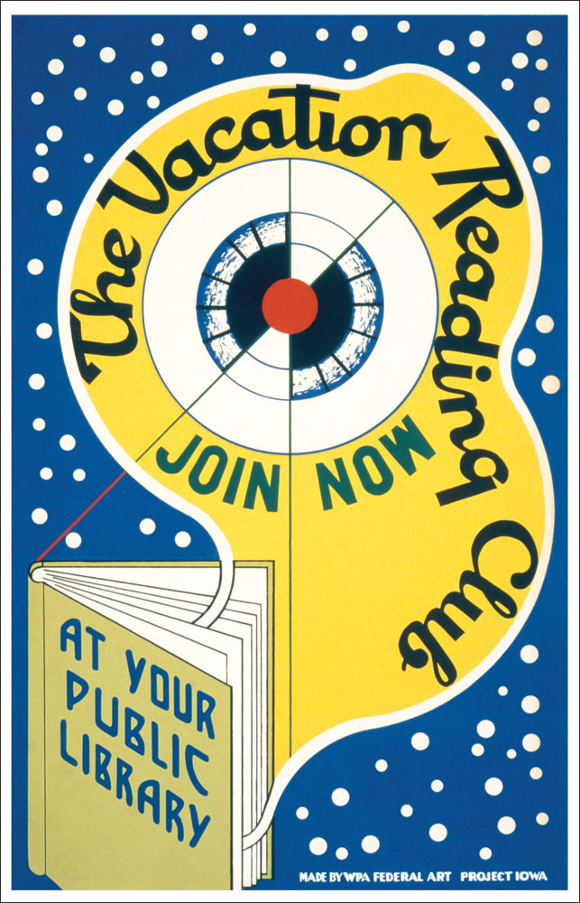 WPA Reading Poster: Vacation Reading Club