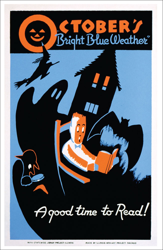 WPA Reading Poster: October is a Good Time to Read