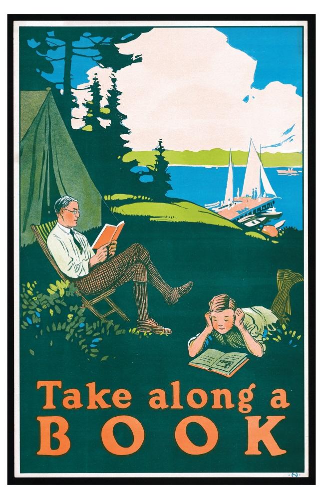WPA Reading Poster: Take Along a Book