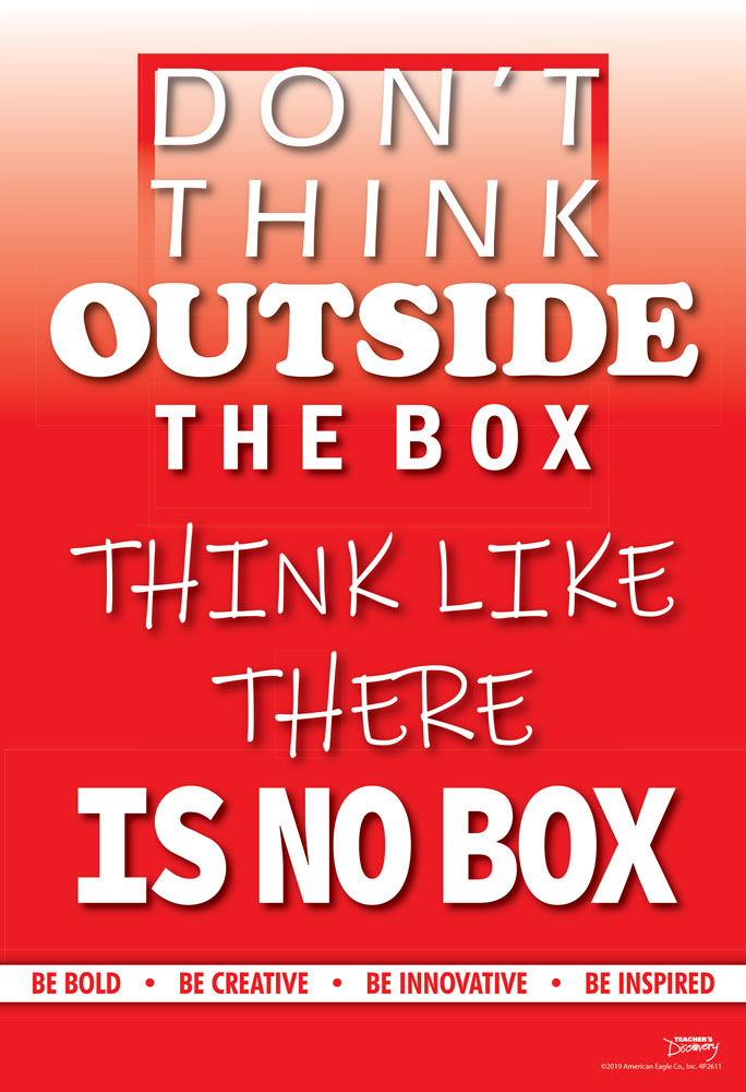 Think Like There Is No Box Mini-Poster