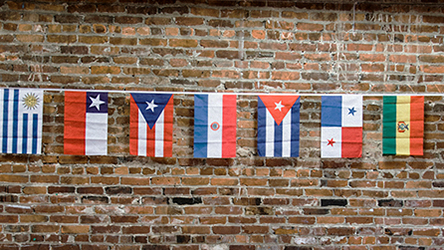 21 Spanish-Speaking Countries Flag Banner