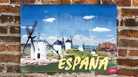 Windmills Spain Travel Poster
