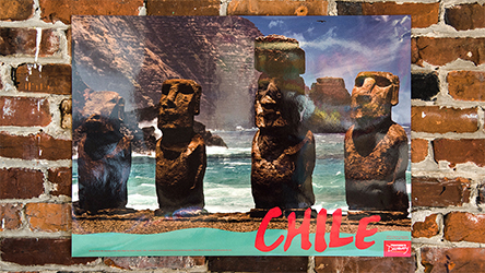 Easter Island Chile Travel Poster