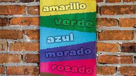 Colors Skinny Poster Spanish