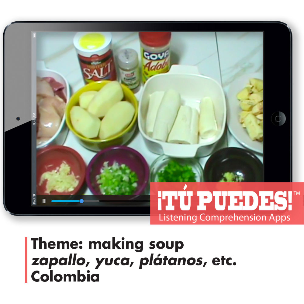 Listening Comprehension App for Digital Learning: Sancocho Colombiano - Hybrid Learning Resource