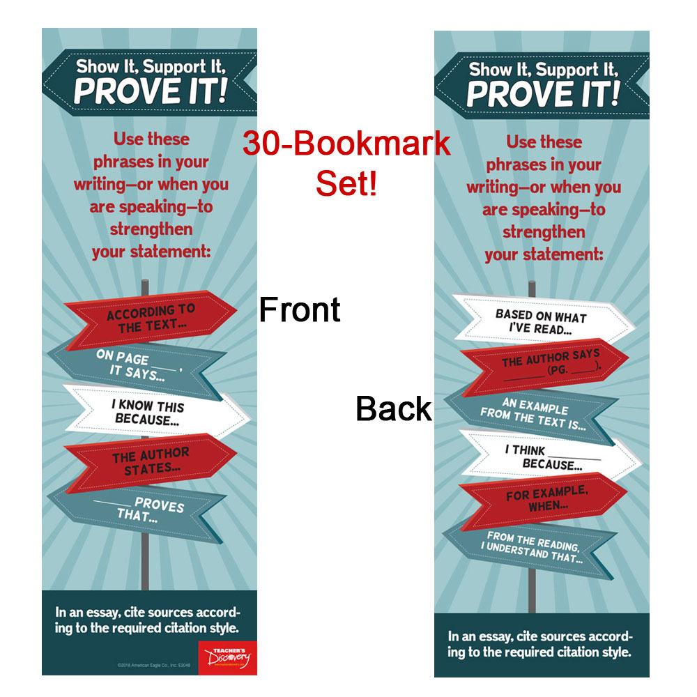 Show It, Support It Bookmarks - Set of 30